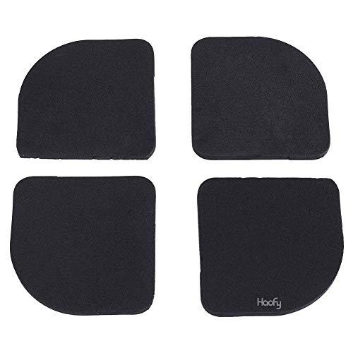 Haofy Anti-vibratiemat, rubber, stille voetpads, wasmachine, anti-vibratiemat, 4 stuks