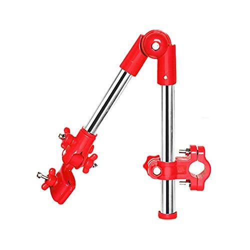 Raymonj Fahrradhalterung Schirmstange Abnehmbare Schirmhalterung Höhenverstellbarer und mehrwinkliger Schirmständeranschluss für Kinderwagen-Rollstuhl