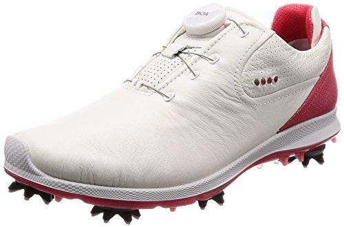 Ecco Damen Golfschuhe, Weiß - White/Teaberry - Größe: 39.5