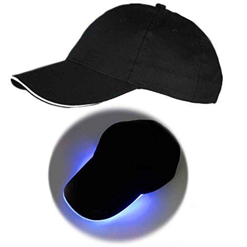 Bobury LED Casquette de Baseball Lueur à la lumière, Les Hommes de Baseball Chapeau Night Club Party Hat étape Performance Cap