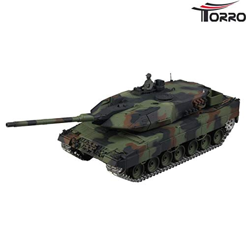 Heng Long 1:16 Leopard 2A6 Panzer Pro Version mit Metallketten etc.