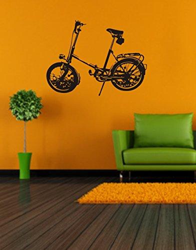 Wandtattoo- Wandaufkleber: Klapprad - MIFA - Faltrad - Fahrrad - Kult - DDR// Farb- und Größenwahl (450 mm x 340 mm, Hellblau)