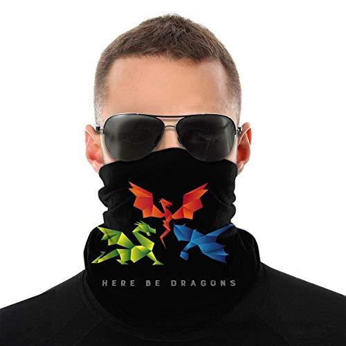 Seattle Dragons Origami Style Dustproof Windproof Bandane Sciarpa Multifunzionale Passamontagna Ghette Collo