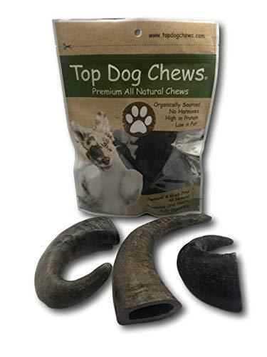Top Dog Chews 3 Pack Natural Water Buffalo Horns Edible Treats