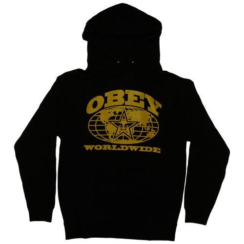 Obey–Herren Kapuze Worldwide–Black L