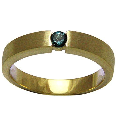 natürlicher Alexandrit Gold Ring - Goldschmiedearbeit (Gelbgold 585) mit starkem Farbwechsel - Spitzenqualität - 3,4 mm - mit Wert Expertise