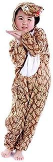 زي هالوين بقصة جمبسوت بتصميم ثعبان (مقاس M) - لون بني وابيض من جولف ديلز