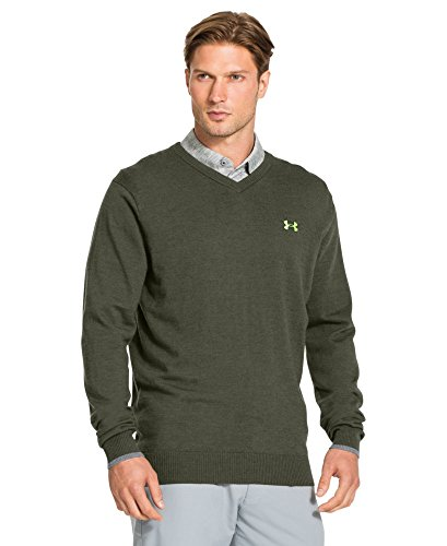 Under Armour Merino V Neck Sweater - Men's Rough/Steel/Steel XL