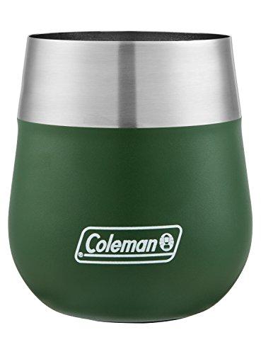 Coleman Copo de vinho de aço inoxidável isolado Claret, verde herança, 368 g