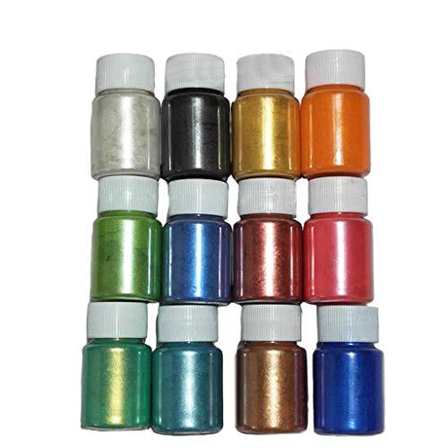 Strahlendes Metallic-Pigmentpulver Epoxidharz Farbe Mica Pulver Epoxidharz Dye Für Kunstharz Gießharz, Seife, Badebombe, Kerze Perle Epoxidharz Und Polyurethanfarbe