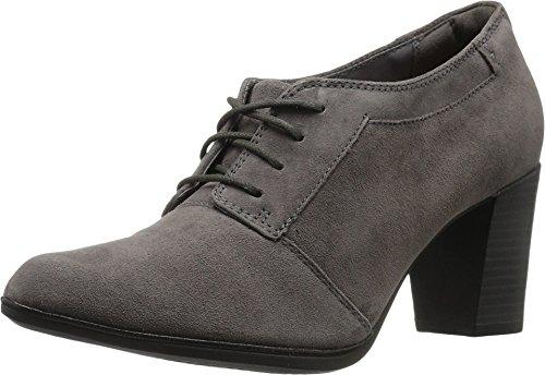 CLARKS Women's Araya Hale Lace Up Shoe,Grey Goat Suede,US 8.5 M
