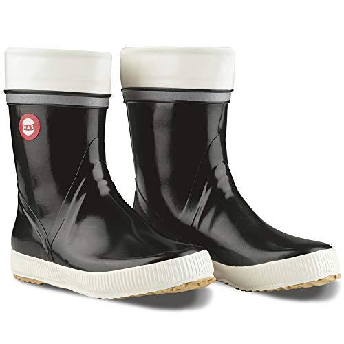 Nokian Footwear  Hai - Wadenhohe Gummistiefel für Damen und Herren, handgefertigt aus Naturkautschukmischung, 39 EU, Black