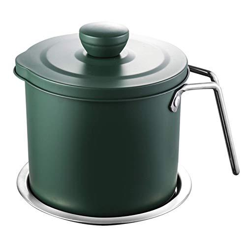 YVX Recipiente de Grasa para Tocino con colador, Separador de Grasa 1.4L / 1.7L Lata de Grasa para Cocina Recipiente de Aceite de Cocina para Aceite de Cocina Usado Aceite para freír Grasa, 1.7L