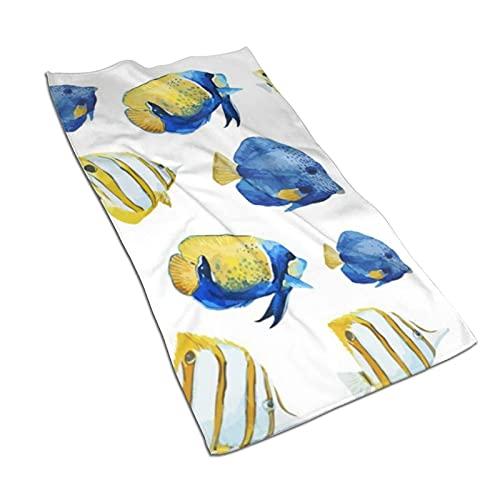 "Nice Fishes Toalla de baño Toallas Multiusos Ultra Suaves Altamente absorbentes para Manos, Cara, Gimnasio, Deportes, decoración del hogar, 27.5 * 15.7 "" 🔥"