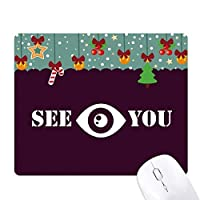 さよなら目を見つめる ゲーム用スライドゴムのマウスパッドクリスマス