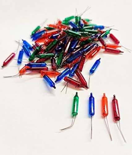 Lampada Sostitutiva pisellino Lampadina 12V - Confezione 100 Pisellini (Multicolore)