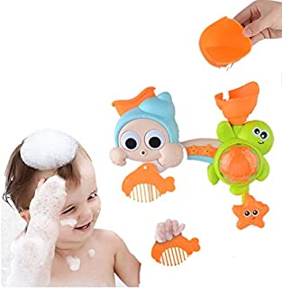 MOWA Bath Toys Bathtub Toys Bath Wall Toy Waterfall Fill Spin and Flow Birthday Gift for 2 3 4 Year Old Kids Toddlers