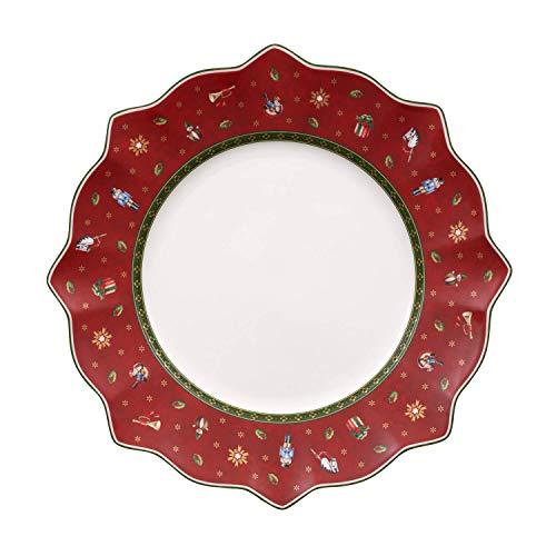 Villeroy & Boch Toy's Delight Plato Llano de Cena, Porcelana, Rojo, 26x26x8...