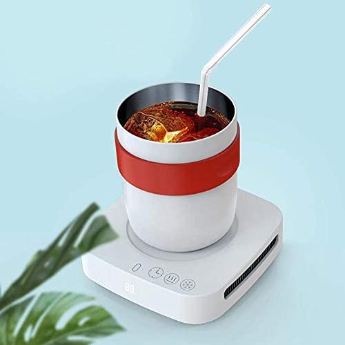 Zerodis Tasse de Refroidissement Intelligente Tasse Chauffe-Eau Tasse isolée Voiture compacte Chauffage Tasse de Refroidissement Rapide Tasse avec Base Chauffe-café 100-240 V(UK)