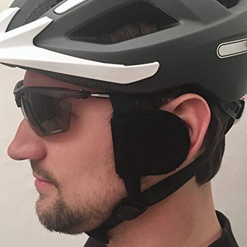 earSHIELD Windschutz für den Fahrradhelm, weniger Windgeräusche an den Ohren, ganzjährig Fahrtwind vom Ohr abweisen, Ohrenschoner