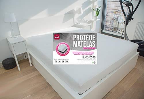 Abeil Protège Matelas 100% Coton Imperméable Blanc 140 x 190 cm