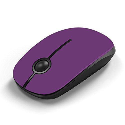 Jelly Comb Kabellose Maus, 2.4G Maus Schnurlos Wireless Kabellos Optische Maus mit USB Nano Empfänger für PC/Tablet/Laptop und Windows/Mac/Linux (Violett)