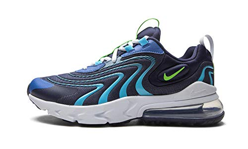 Nike Air MAX 270 React Eng GS Running Trainers CD6870 Sneakers Zapatos (UK 5 US 5.5Y EU 38, blackended Blue Green Strike 400)