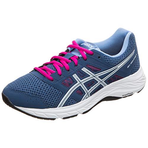 Asics Gel-Contend 5, Zapatillas de Running Mujer, Azul (Grand Shark/White 401), 38 EU