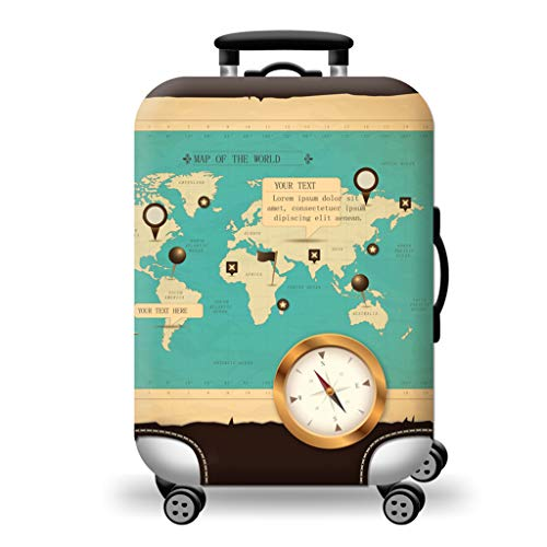 OLMITA Colorful Travel Elasticity Fashion Luggage Cover Travel Luggage Dust Cover Protective Suitcase Cover Trolley Case for 19 To 32 Inch,M