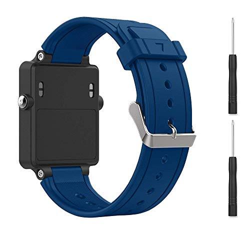 for Garmin vivoactive Band,EasyJoy Soft Silicone Replacement Band for Garmin vivoactive Smart Watch,Not fit Garmin vivoactive hr (Blue)