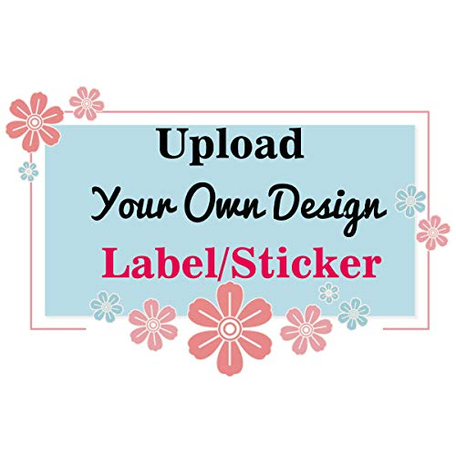 Amerixun 100 pcs Custom Sticker Labels,Personalized Business Text,Logo,Image Tag Sticker, Any Shape ,Design. Waterproof (1x1.5 inch Rectangle)