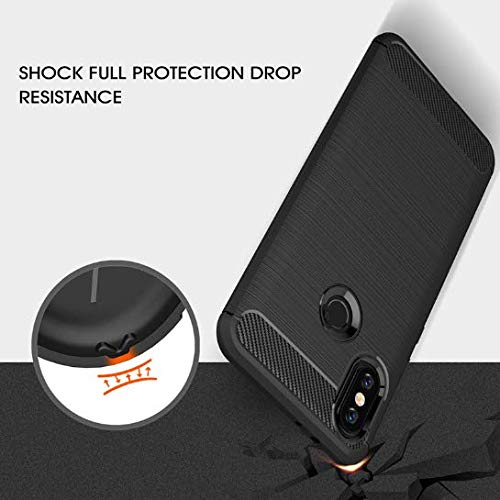 Capa Case Anti Impacto+película Vidro Xiaomi Mi A2 5,99 (CAPA PRETA+PELÍCULA VIDRO FULL COVER BRANCA)