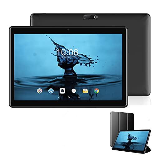 Tablet 10 Zoll Android 10.1 Zertifiziert von Google GMS 3GB RAM 32GB/128 ROM Erweiterbar 4G LTE Tablet PC Quad-Core 8000mAh Dual-SIM Dual-Kamera 8MP Tablets mit WiFi,Bluetooth,GPS,FHD+Display(Schwarz)