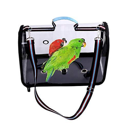 Kit gabbia per uccelli da volo Gabbia per uccelli Portable Clear Bird Cage Leggero PVC PVC Pappagalli traspiranti Pappagalli Cage Cover Airy Travel Borsa Easy Pulizia Accessori per animali domestici G