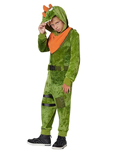 Kids Fortnite Plush Rex Costume - L/XL Green