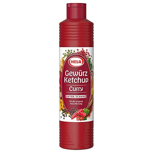 Hela Curry Gewürz Ketchup extra hot, 6er Pack (6 x 800 ml Flasche)