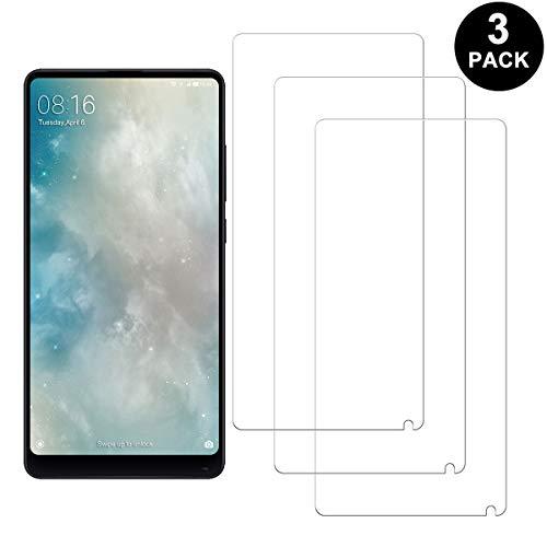 RIIMUHIR Xiaomi Mi Mix 2 Protector Pantalla, Cristal Templado Anti-arañazos, Anti-Huella Digital, Sin Burbujas, 3 Unidades