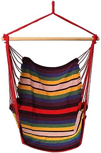 dongfangbubai Hamac Chaise,Fauteuil Siege Suspendu pour Enfants et chaises de Jardin en Toile de Coton de Couleur pour Jardin/intérieur/extérieur (Taille: 135x90cm)
