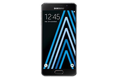 Samsung Galaxy A3 2016 Smartphone débloqué 4G (Ecran: 4,7 pouces - 16 Go - Simple Nano-SIM - Android 5.1 Lollipop) Noir