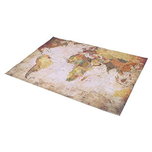 Tapis de Carte du Monde abordable Tapis de Carte du Monde antidérapant Tapis de Carte du Monde écologique Facile à Nettoyer Salon de Bureau pour la Maison