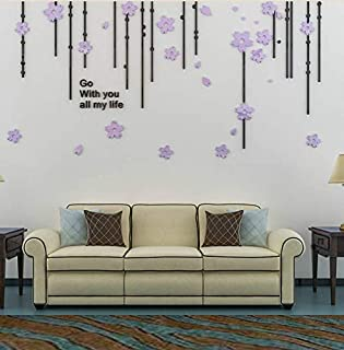 3D Acrylic Stereo Wall Sticker Sofa Living Room TV Background Wall Personality Bedroom Creative Decorative Painting-xsq