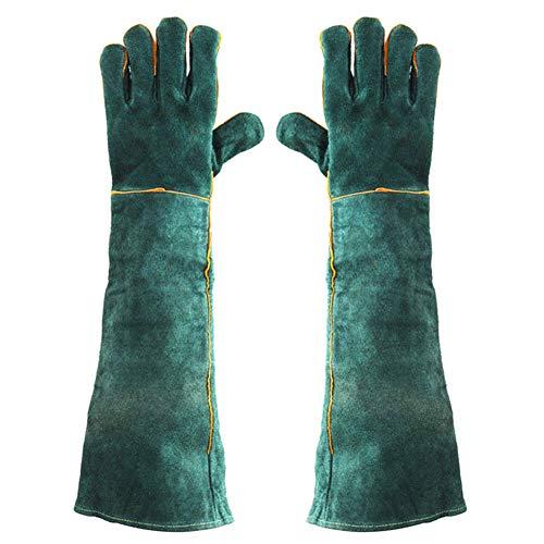 Carremark 1 Paar Elektrische Schweißhandschuhe Hochtemperaturbeständige Schweißer Lange Handschuhe 60 cm
