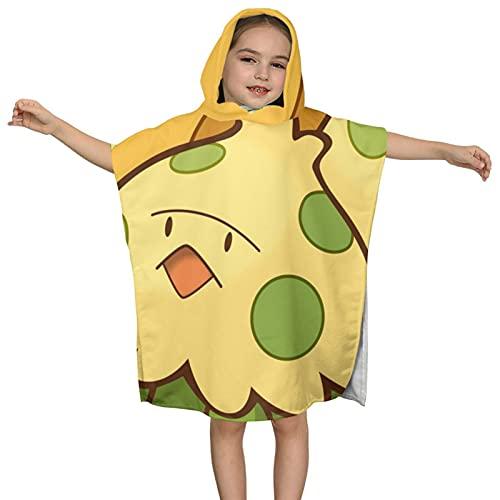 Shroomish - Toalla de baño con capucha para niños, 60 x 60 cm, absorbente de lujo para baño y playa, suave algodón de rizo con capucha