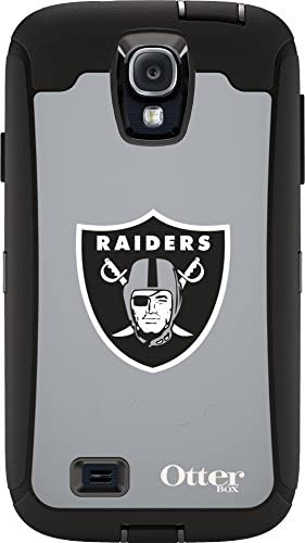 OtterBox Defender Case for Samsung GALAXY S4 Retail Packaging NFL Raiders Black Oakland Raiders product image