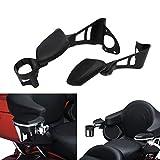 YHMTIVTU Passenger Armrests Motorcycle Adjustable Rear Armrest with Drink Holder Fit for Harley Touring and Tri Glide 2014-2019 Black