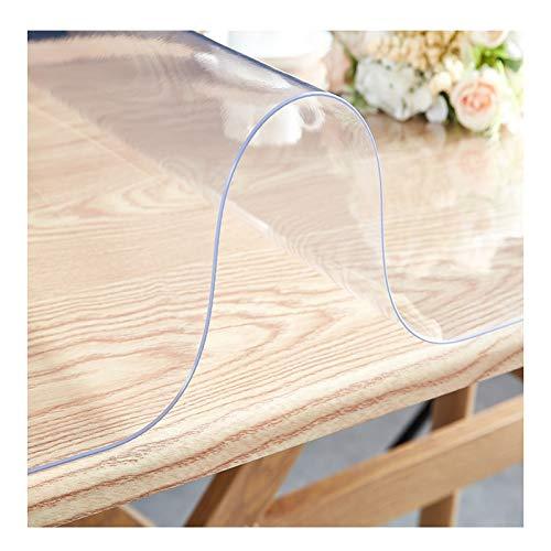 AMDHZ Protector Mesa Vidrio Blando De PVC Engrosado Mantel Transparente 1,5 Mm, 2 Mm Insípido Impermeable Y Anti-Quemaduras Estera De Mesa De Mantel De Plástico (Color : 2MM, Size : 70X70cm)