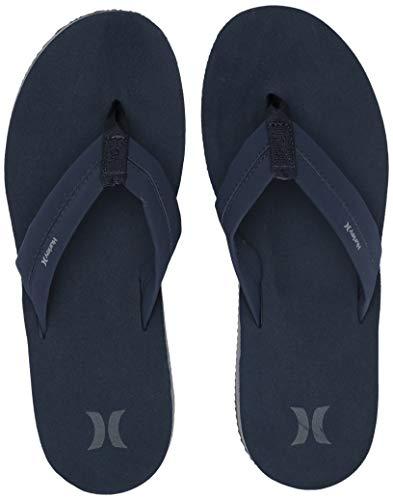 Hurley Herren Nike Lunarlon Lunar Flip Flop Sandal Flipflop, Obsidian/Cool Grey-cool Grau, 45 EU