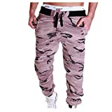 Pantalones de camuflaje de los hombres estilo hip hop plisado harem pantalones masculinos deportivos pantalones