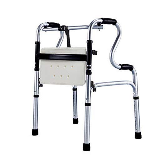 Zfggd Ältere Rohr Rollator Rohrhocker Rehabilitationsausruestung Rädern Licht/Multifunktions-Wanderer ohne Räder (Color : Wheeled)