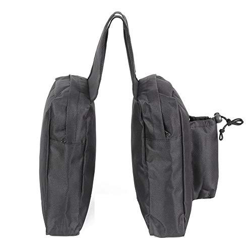 Vicfund New Motorcycle Helmet Travel Bags Outdoor ATV/UTV Tank Saddlebags Motor Snowmobile Mountain Bike Storage Bag(Black)